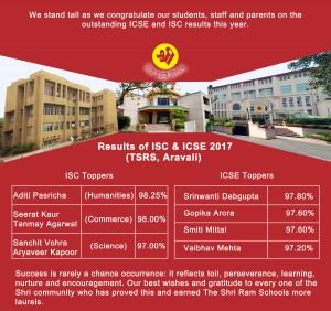 ISC & ICSE Result 2017-Aravali